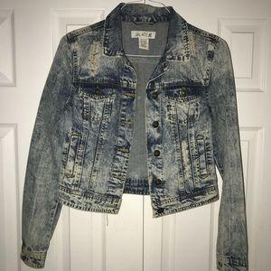 Jackets & Blazers - Acid washed denim jacket